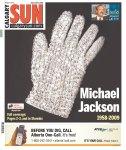 O americano Calgary Sun traz a famosa luva de brilhantes