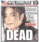 "O New York Post é enfático: ""Morto"""